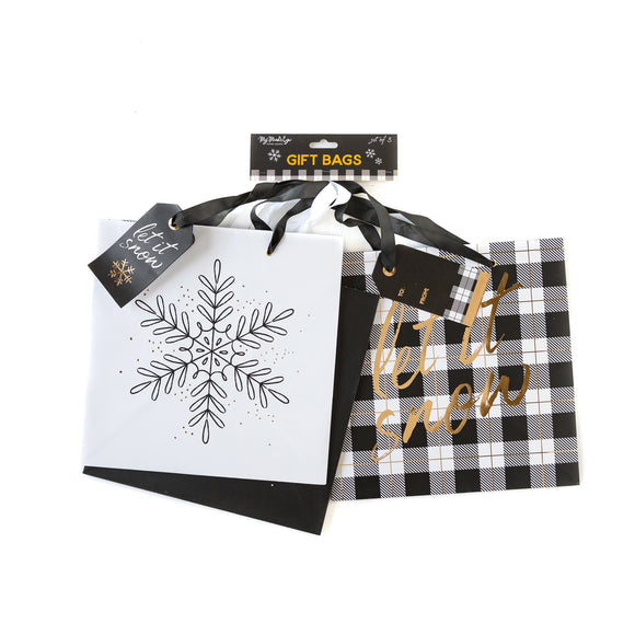 *SALE* My Mind's Eye - Large Gift Bags - Black & White