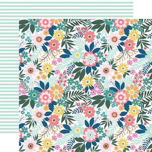 Echo Park - Pool Party 12x12 Cardstock - Paradise Floral