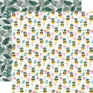 Echo Park - Pool Party 12x12 Cardstock - Pineapple Paradise