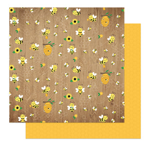 Photo Play - Sweet as Honey 12x12 Cardstock - Buzzing By