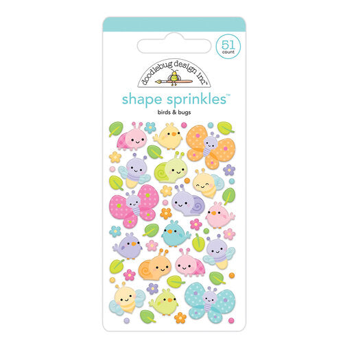 Doodlebug Designs Fairy Garden - Birds & Bugs Shape Sprinkles