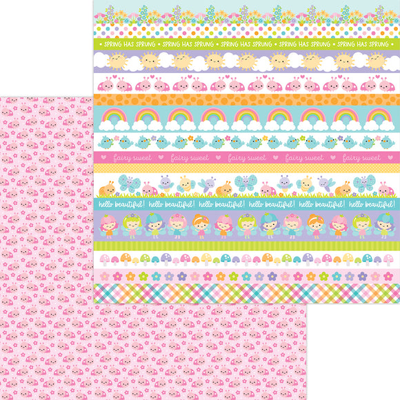 Doodlebug Design Fairy Garden -  Little Ladies 12x12 Double-Sided Cardstock