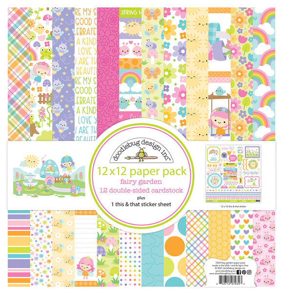 Doodlebug Fairy Garden - 12x12 Collection Paper Pack