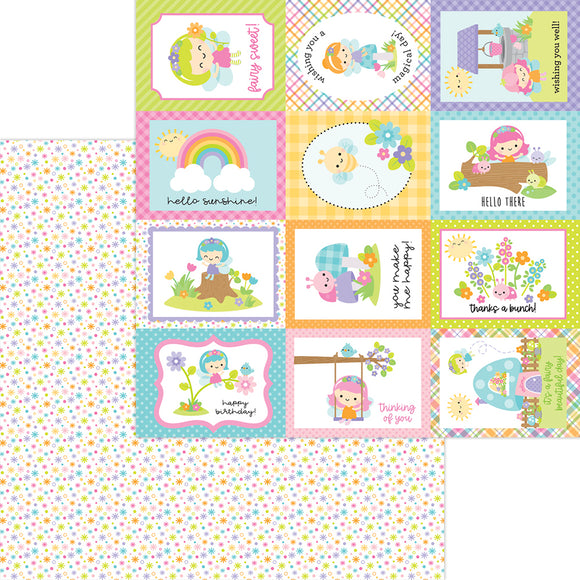 Doodlebug Design Fairy Garden -  Fairy Dust 12x12 Double-Sided Cardstock