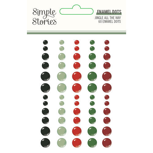 Simple Stories Jingle all the Way - Enamel Dots