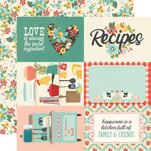 Simple Stories - Apron Strings 12x12 Cardstock - 4x6 Elements