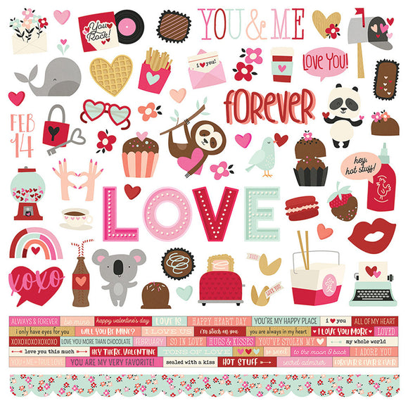 Simple Stories - Sweet Talk  12x12 Sticker Sheet