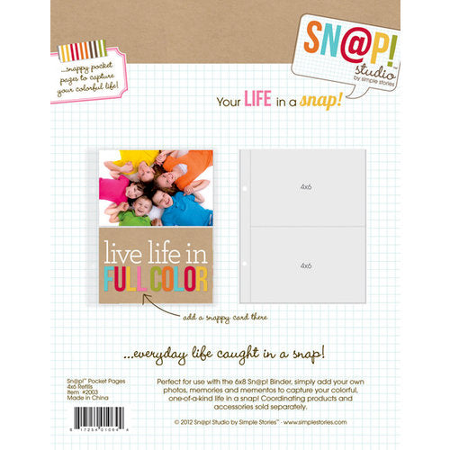 Simple Stories SN@P- Pocket Page Refills - 4x6