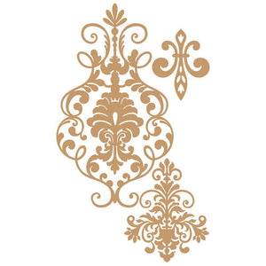 Prima Marketing Decorative Chipboard - Elegant Damask