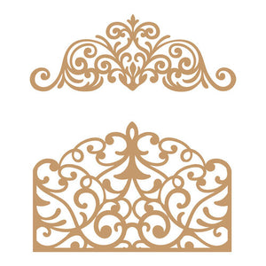 Prima Marketing Decorative Chipboard - Flourish Gate