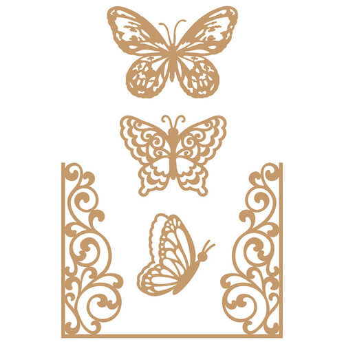 Prima Marketing Decorative Chipboard - Butterfly Flight