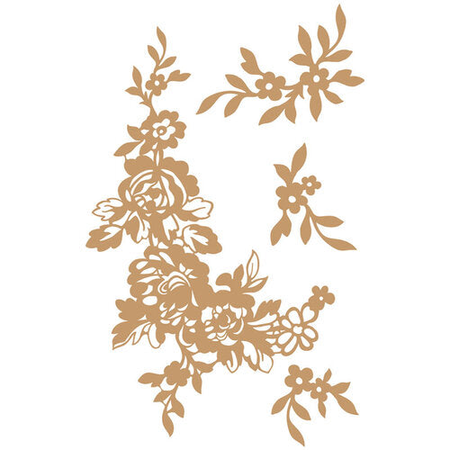 Prima Marketing Decorative Chipboard - Beautiful Fleur