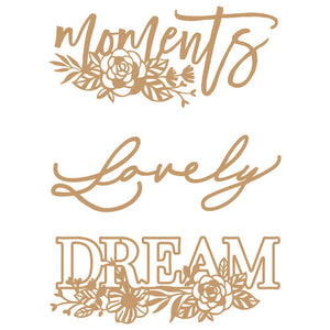 Prima Marketing Decorative Chipboard - Words to Live By II