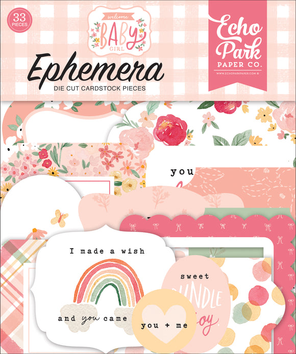 Echo Park - Welcome Baby Girl Ephemera