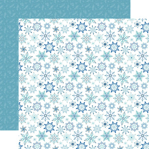 Echo Park Paper - Winter Magic - Magic Snowflake 12x12 Cardstock