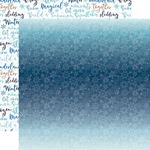 Echo Park Paper - Winter Magic - Icy Snowflakes 12x12 Cardstock