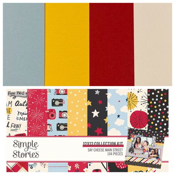 Bazzill Coordinating Pack - Simple Stories Say Cheese Main Street