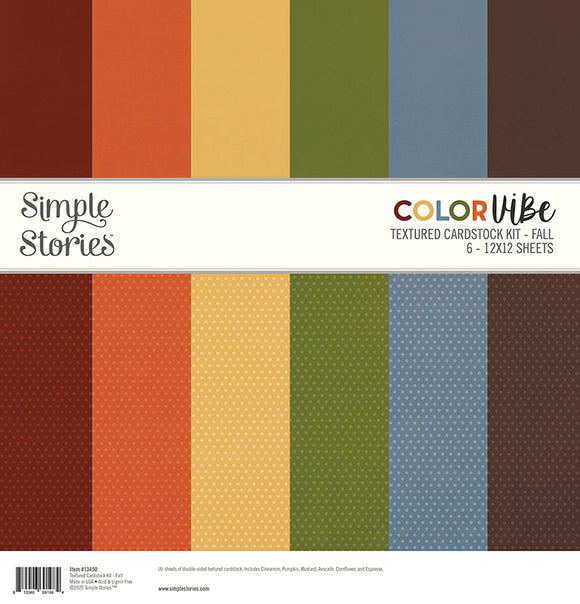 *SALE* Simple Stories - Color Vibe Textured Cardstock -Fall