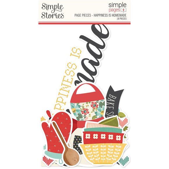 Simple Stories - Page Pieces - Happiness is Homemade