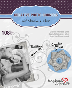 Scrapbook Adhesives Creative Photo Corners - Silver