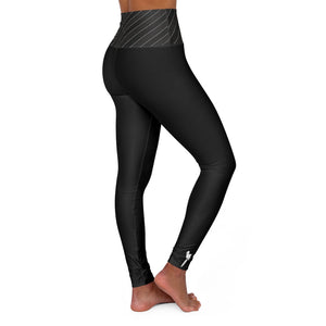 "OTH ""blk stripes"" High Waisted Yoga Leggings"