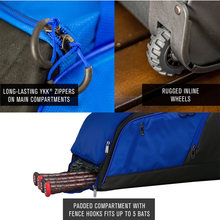 Load image into Gallery viewer, EASTON DUGOUT WHEELED BAG ROYAL