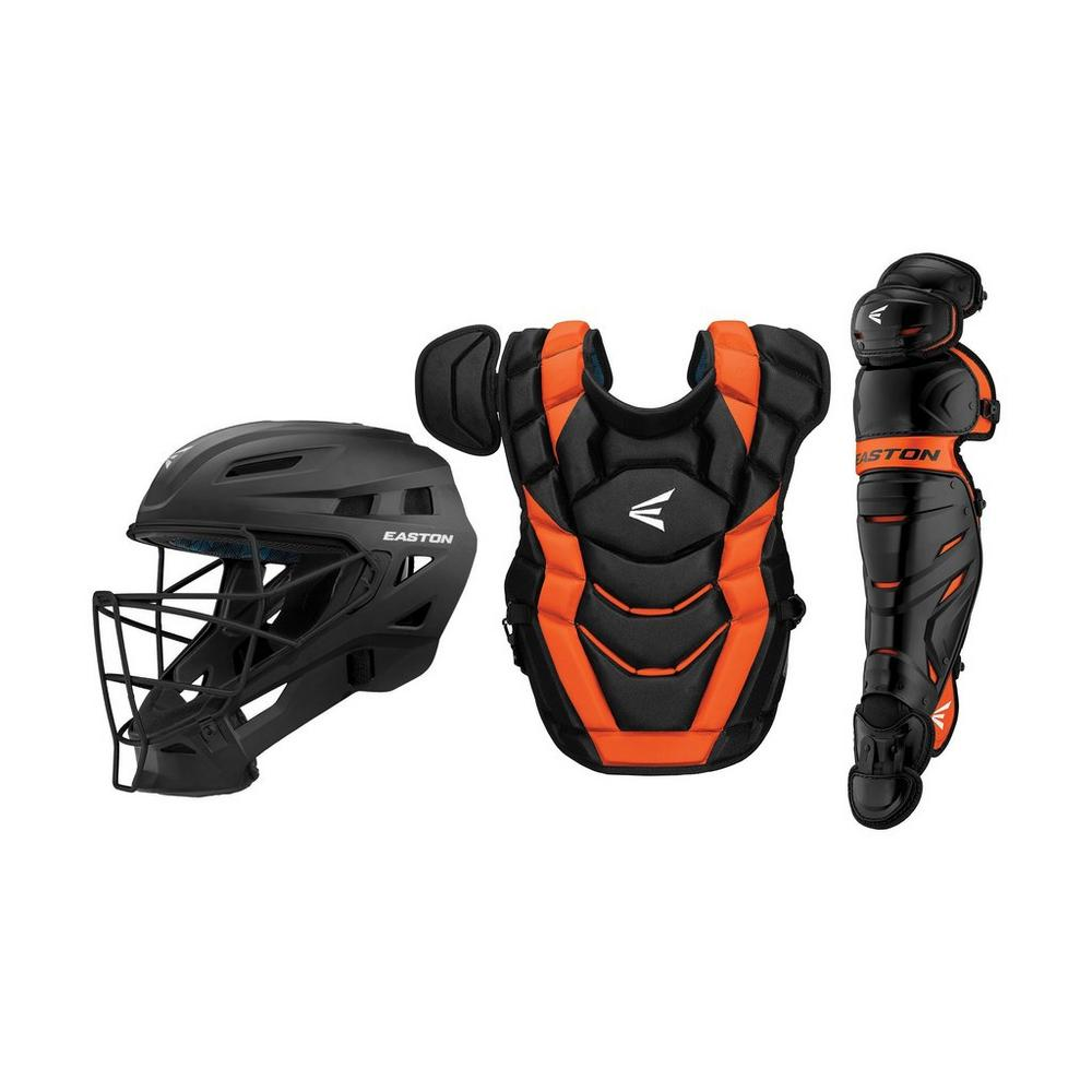 EASTON ELITE X CATCHERS SET BLACK ORANGE