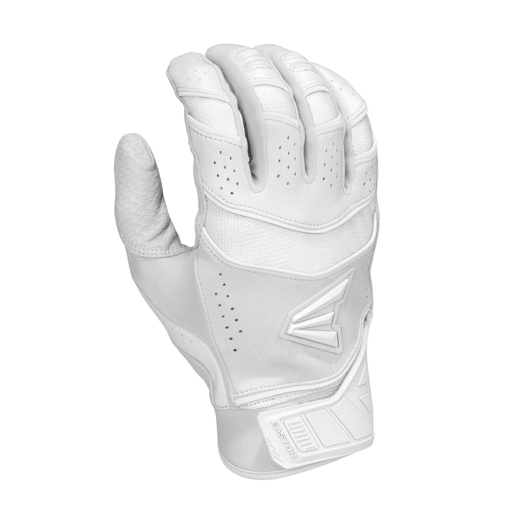 EASTON PRO X BATTING GLOVES WHITE