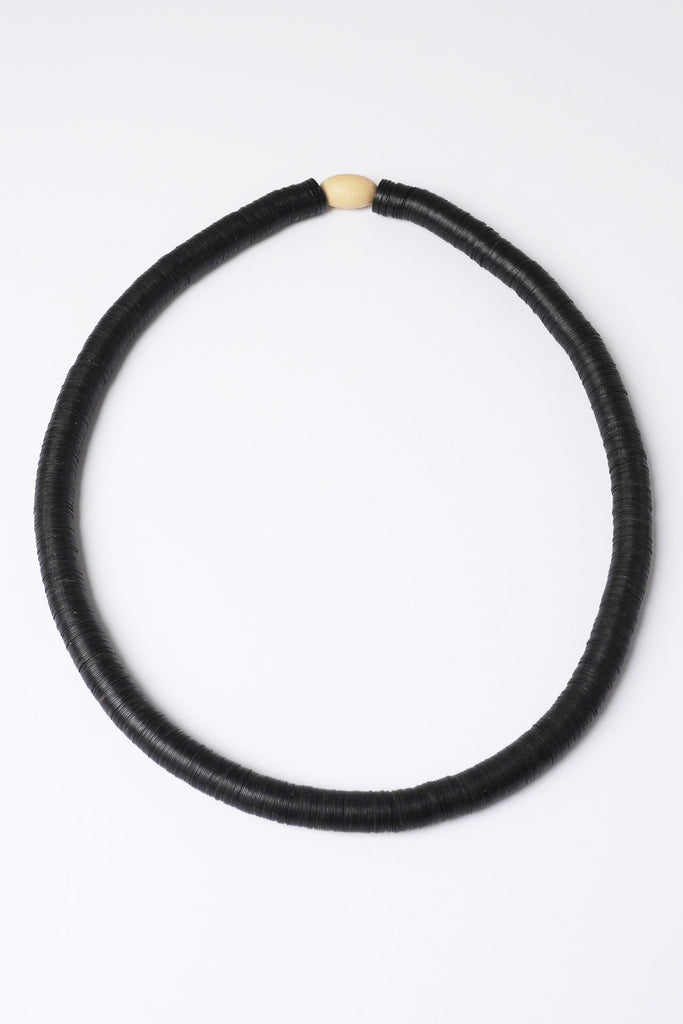 Black African Bead Necklace