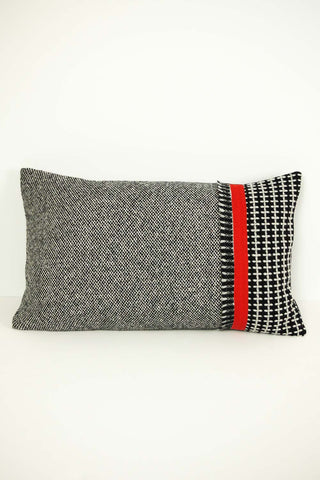 Orange Stripe on Tweed Cushion