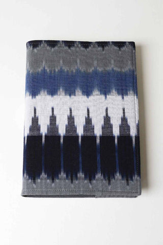 Loose Cover Blue Ikat Fabric Journal