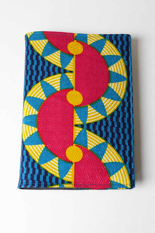 Loose Cover Crazy Parrot African Fabric Journal