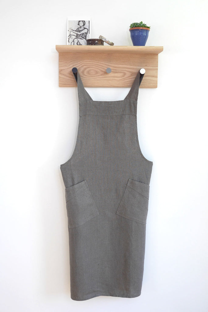 Cross Back Apron - Grey