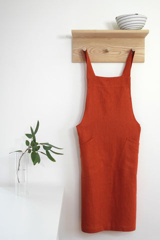 Cross Back Apron - Orange