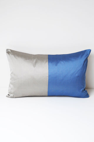 Half Silk Cushion - Blue