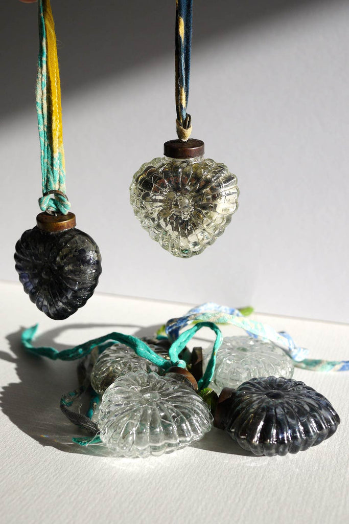 Large Glass Heart Baubles