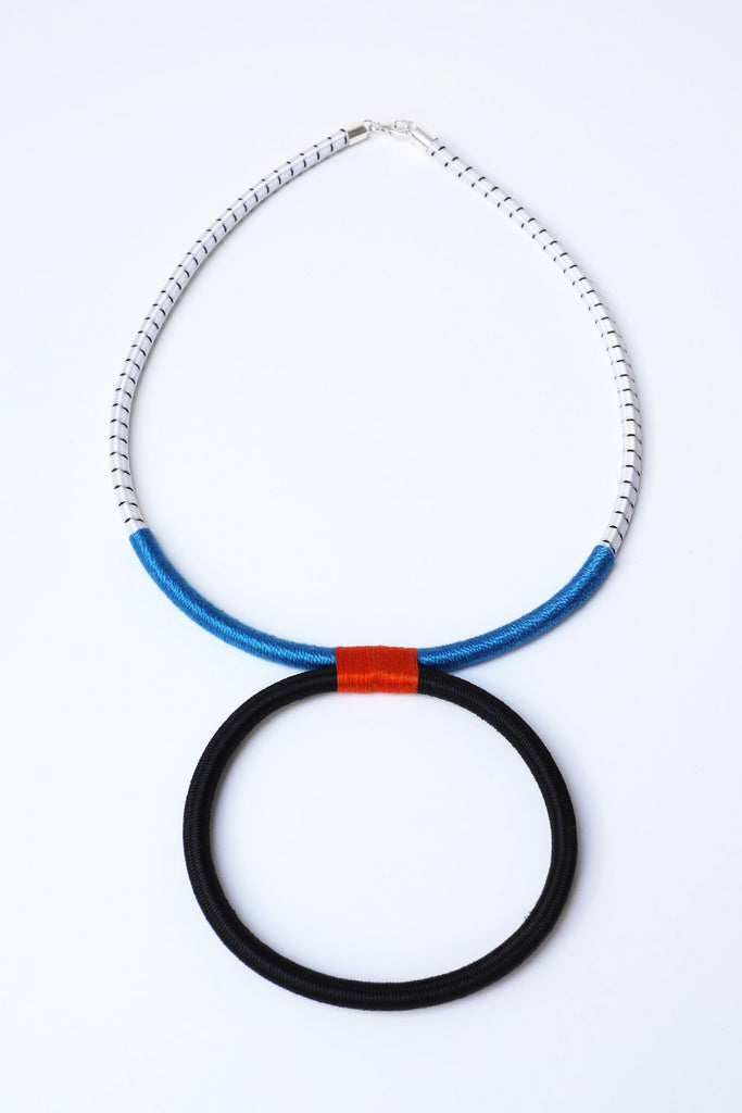 Ilanga Blue-Orange Necklace