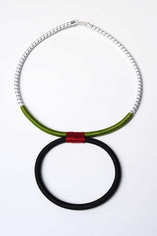 Ilanga Green-Umber Necklace
