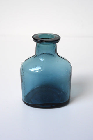 Dark Blue Oval Inkpot Vase