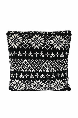 Black & White Knitted Cushion