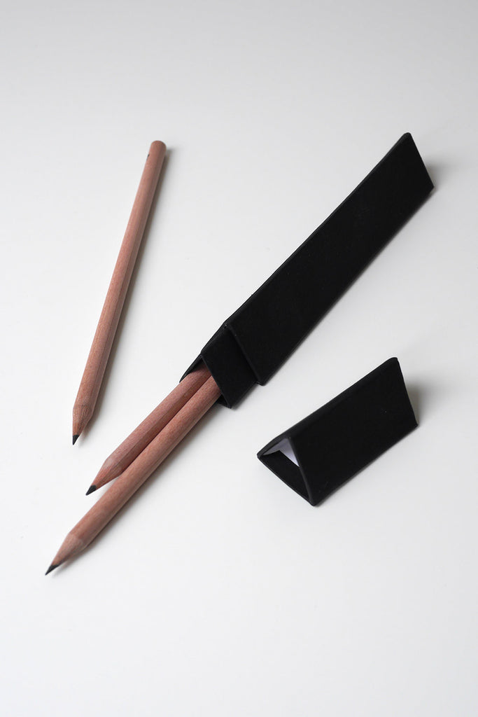 Triple Box Pencil Case - Natural Pencils