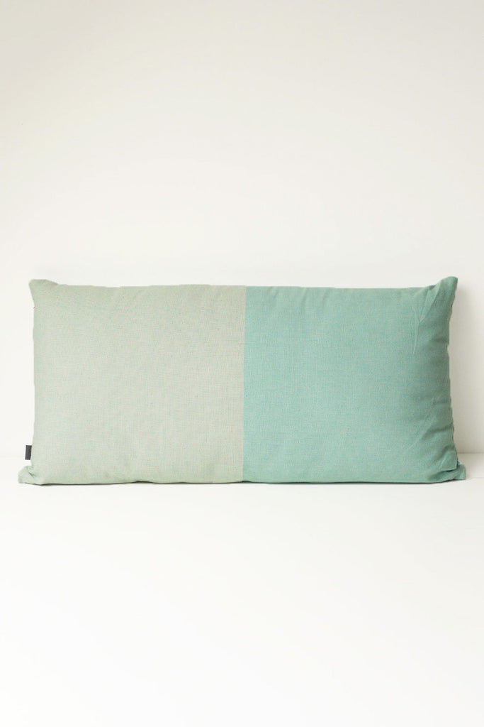 Two Tone Cushion - Turquoise