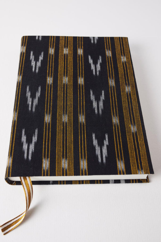 Black & Gold Ikat Journal