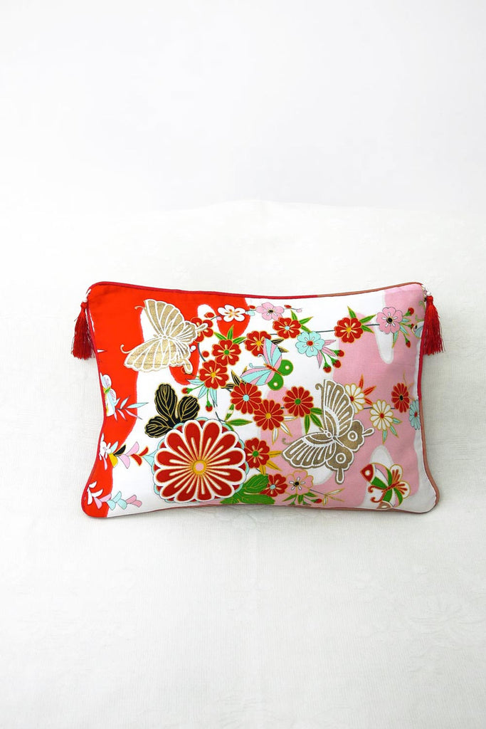 Butterfly on Flowers Cushion (Small)