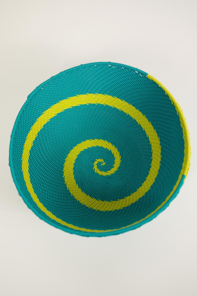 African Woven Bowl - Turquoise