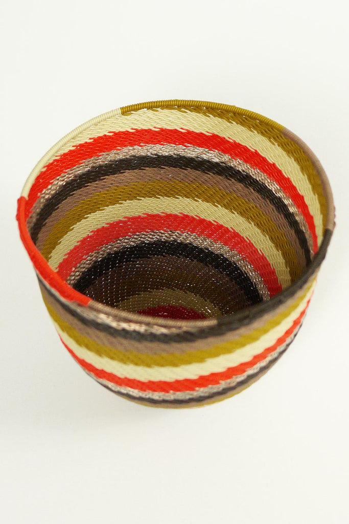 African Woven Cone Bowl - Spice
