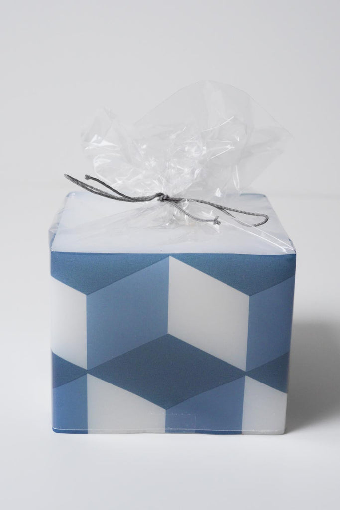 Geometric Square Candle