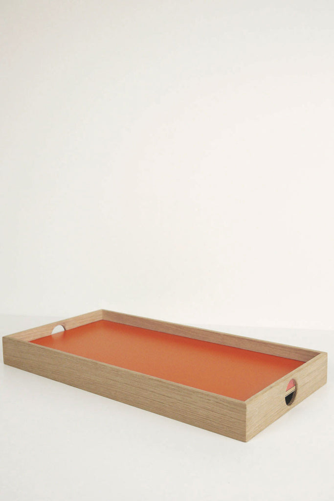 Oblong Flip Tray - Orange/Grey