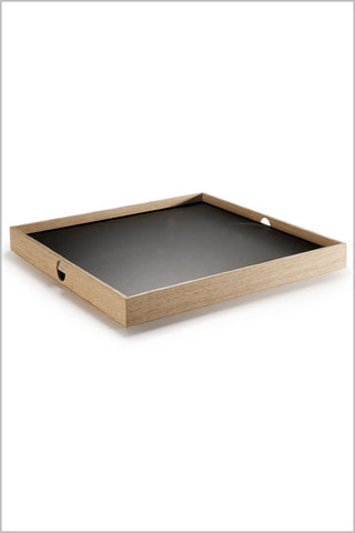 Square Flip Tray - Black/White