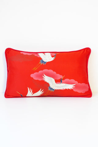 White Stork Cushion 4 - Oblong